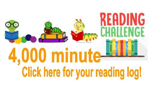 4,000 minute reading challenge log